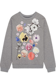 Stickers printed cotton-jersey sweatshirt