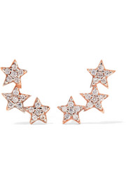 Three Star rose gold-plated topaz earrings