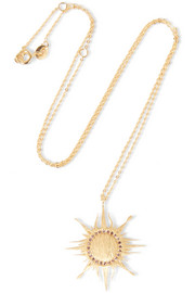 Sun gold-plated topaz necklace