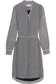 MICHAEL Michael Kors Corsican striped chiffon shirt dress