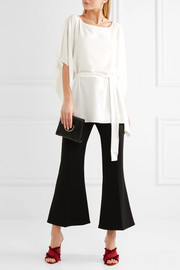 Belted crepe top