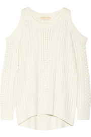 Cutout cable-knit sweater