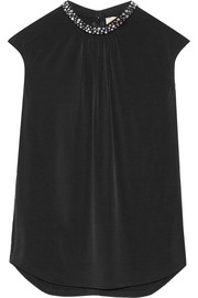 MICHAEL Michael Kors Embellished stretch-jersey top