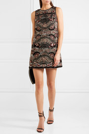 Sherley embellished silk-chiffon mini dress