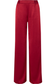 Racquel satin wide-leg pants
