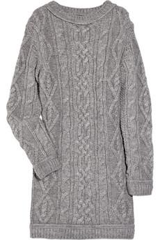 Вязаные зимние теплые платья. зимнее вязаное платье спицами.