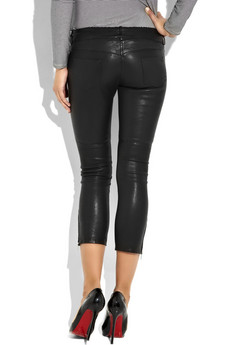 Isabel Marant Shun cropped skinny leather pants