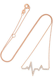 Diane Kordas Heartbeat 18-karat rose gold diamond necklace