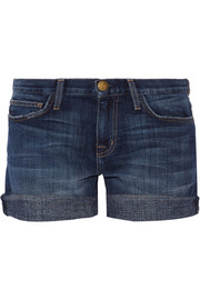 The Boyfriend stretch-denim shorts
