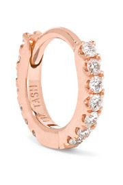 Mini 18-karat rose gold diamond earring