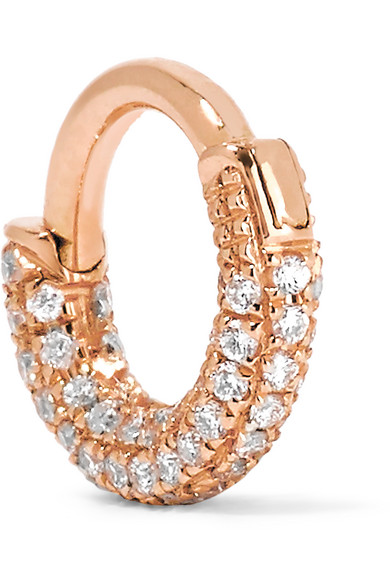 Maria Tash - Mini 18-karat Rose Gold Diamond Earring