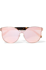 Star Sailor Superstars round-frame acetate and rose gold-tone mirrored sunglasses