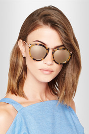 Harvest Superstars round-frame acetate and rose gold-tone mirrored sunglasses
