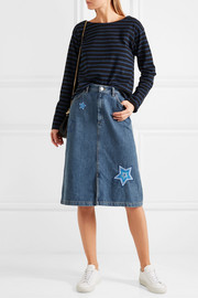 M.i.h Jeans Parra embroidered denim skirt