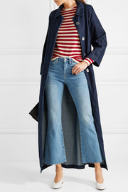 M.i.h Jeans Belted embroidered denim coat