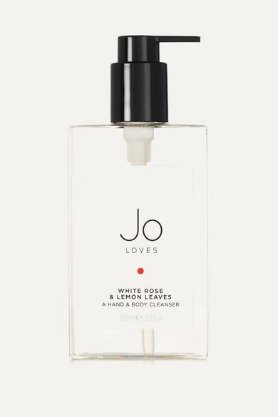JO LOVES WHITE ROSE & LEMON LEAVES HAND & BODY CLEANSER, 200ML - COLORLESS