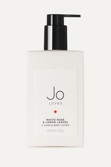 JO LOVES WHITE ROSE & LEMON LEAVES HAND & BODY LOTION, 200ML - COLORLESS