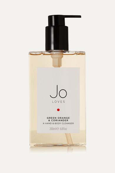 JO LOVES GREEN ORANGE & CORIANDER HAND & BODY CLEANSER, 200ML - COLORLESS