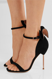 Maya bow-embellished suede sandals