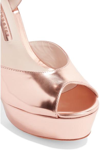 641bbdf5226 Sophia Webster. Raye bow-embellished metallic leather platform sandals.  £297. Zoom In