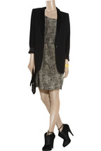 MajeAmiable silk print dress