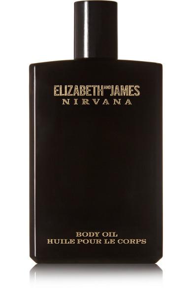 ELIZABETH AND JAMES NIRVANA Nirvana Black Body Oil - Violet, Sandalwood & Vanilla, 100Ml in Colorless