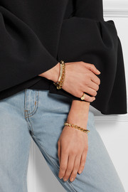 Cone gold-plated bracelet