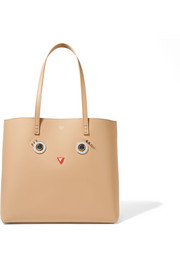 Fendi Embellished leather tote