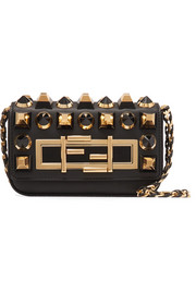 Baguette mini embellished leather shoulder bag