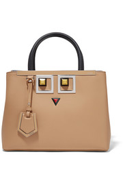 Fendi 2Jours Petite embellished leather shopper