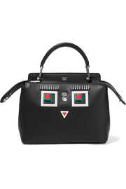 Fendi DotCom petite embellished leather shoulder bag