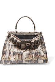 Fendi Peekaboo medium embellished python tote