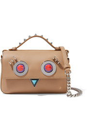 Fendi Double Baguette micro embellished leather shoulder bag