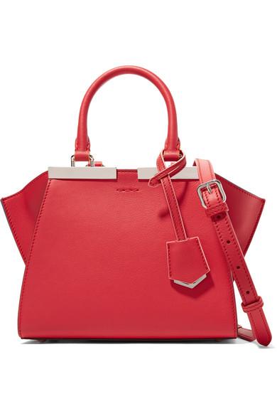 fendi female fendi 3jours small leather shoulder bag red