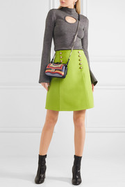 Fendi Double Baguette micro printed leather shoulder bag