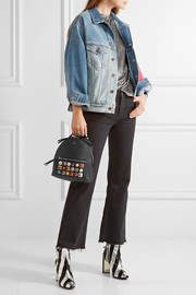 Fendi Mini embellished leather backpack
