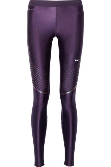 Nike - Power Speed Stretch-jersey Leggings - Dark purple