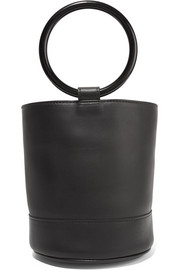 Bonsai leather bucket bag