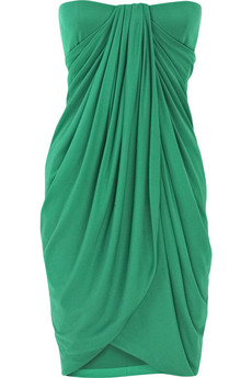 Giambattista Valli | Strapless drape silk dress | NET-A-PORTER.COM from net-a-porter.com