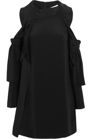 3.1 Phillip Lim - Cutout Silk-satin Mini Dress - Black