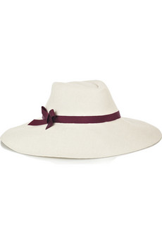L'Wren Scott Bow-embellished straw sunhat