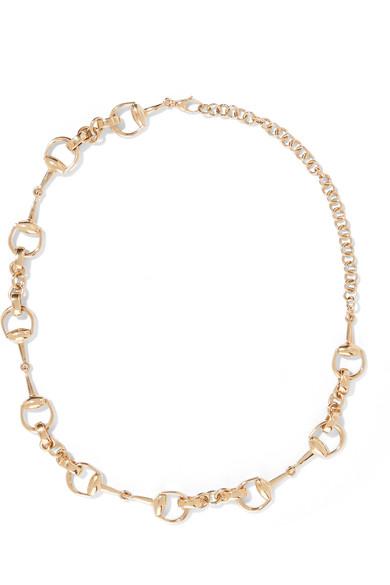 Gucci - 18-karat Gold Horsebit Necklace