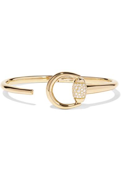 Gucci - 18-karat Gold Diamond Bracelet