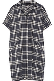 The Slouch plaid cotton-flannel dress