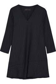 The Day To Night pinstriped stretch-ponte mini dress