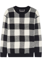 The Louisa gingham alpaca and merino wool-blend sweater