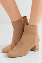 MICHAEL Michael Kors Sabrina chain-embellished suede boots