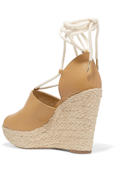 b52e2766668 Hastings textured-leather espadrille wedge sandals