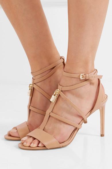 Michael Michael Kors Antoinette Leather Sandals Modesens