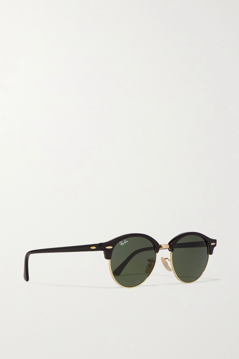 Ray-Ban Clubround acetate and gold-tone sunglasses
